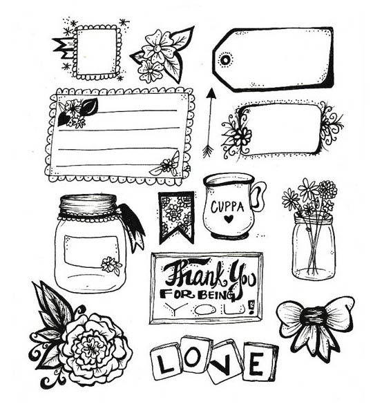 Черно-белые картинки для срисовки