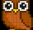 Рисунки по клеточкам сова