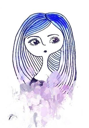 11.срисовки для девочек лёгкие